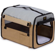 Pet Life Khaki Collapsible Easy House Carrier SM