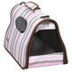 Pet Life Folding Cage Striped Pet Carrier LG