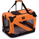 Pet Life Orange Vista View Collapsible Carrier XL