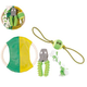 Pet Life 4-Piece Squeak Dog Toy Set
