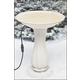 API Beige Heated Birdbath On Pedestal