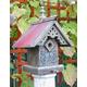 Heart and Eagle Victorian Sunburst Birdhouse