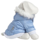Pet Life Metallic Blue Parka Dog Coat XS