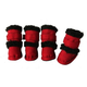Pet Life Red Shearling Duggz Dog Boots LG