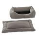 Pet Dreams 2-Piece Plush Ivory Bumper Bed X-Large