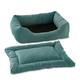 Pet Dreams 2-Piece Plush Blue Bumper Bed X-Large
