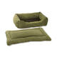Pet Dreams 2-Piece Plush Sage Bumper Bed X-Large