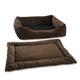 Pet Dreams 2-Piece Plush Coco Bumper Bed X-Large