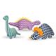 Patchwork Pet DinoTrio Plush Dog Toy Big Blue