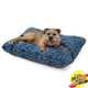West Paw Pillow Dog Bed Cobalt Modern Floral SM
