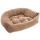 Jax and Bones Velour Napper Bed Camel Ripple XL