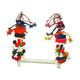 Happy Beaks Rope Bird Swing With Blocks Large