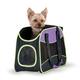 KH Mfg Easy Go Purple/Black/Lime Green Dog Carrier