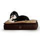 KH Mfg Feather Top Chocolate Ortho Dog Bed Large