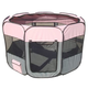 Pet Life All-Terrain Travel Pet Playpen Pink LG
