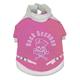 Pet Life Skull and Bones Pet Coat Pink/White MD