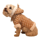 Pet Life Polka-Dot Hooded Dog Coat Brown MD