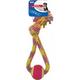 SPOT Rainbow Crinkler Tennis Ball Tug Dog Toy