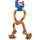 SPOT Rainbow Crinkler Knotted Rope Tug Dog Toy