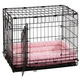 Quiet Time Deluxe Double Bolster Pet Bed Pink 36in