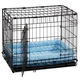 Quiet Time Deluxe Double Bolster Pet Bed Blue 36in