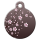 Asian Cherry Blossom Pet ID Tag Small