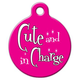 Cute and in Charge Pet ID Tag Large