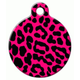 Pink Leopard Pet ID Tag Large
