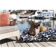 Outdoor Navy Blue Plantation Rectangle Pet Bed LG