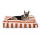 Majestic Outdoor Orange Stripe Rectangle Pet Bed L
