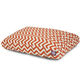 Outdoor Orange Chevron Rectangle Pet Bed LG