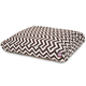 Outdoor Chocolate Chevron Rectangle Pet Bed LG