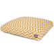 Outdoor Yellow Chevron Rectangle Pet Bed SM