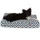 Majestic Outdoor Navy Chevron Rectangle Pet Bed SM