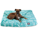 Outdoor Teal Sea Horse Rectangle Pet Bed SM