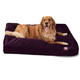 Majestic Pet Aubergine Rectangle Pet Bed Small