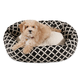 Majestic Pet Black Bamboo Sherpa Bagel Bed 52 in