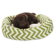 Majestic Pet Sage Chevron Sherpa Bagel Bed 52 in