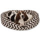 Majestic Chocolate Chevron Sherpa Bagel Bed 52 in