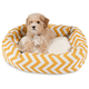 Majestic Pet Yellow Chevron Sherpa Bagel Bed 52 in