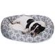 Majestic Pet Grey Links Sherpa Bagel Bed 52 inch