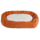 Majestic Pet Orange Villa Sherpa Bagel Bed 52 inch