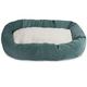 Majestic Pet Azure Villa Sherpa Bagel Bed 52 inch