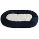 Majestic Pet Navy Villa Sherpa Bagel Bed 52 inch