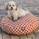 Majestic Pet Outdoor Orange Bamboo Round Pet Bed S