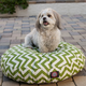 Majestic Pet Outdoor Sage Chevron Round Pet Bed SM