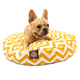 Majestic Outdoor Yellow Chevron Round Pet Bed SM