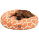 Majestic Pet Outdoor Peach Trellis Round Pet Bed S