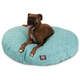 Majestic Pet Outdoor Teal Navajo Round Pet Bed SM