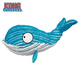 KONG Cuteseas Whale Dog Toy Large